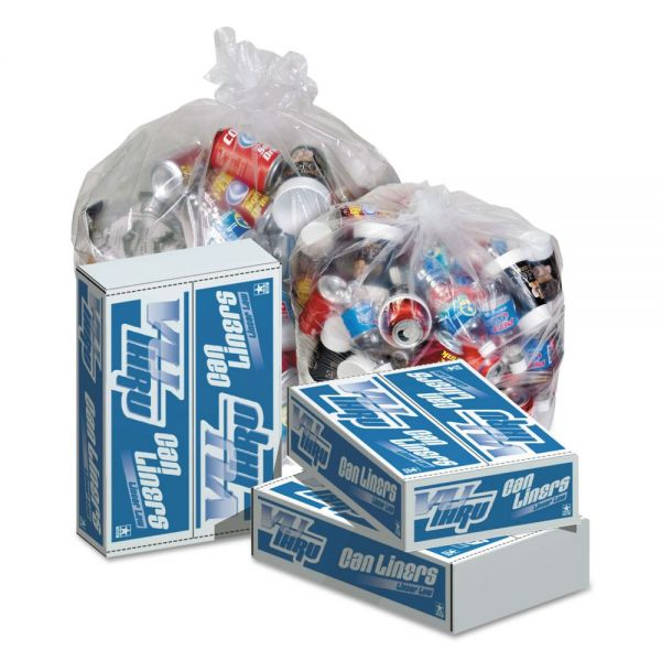 Pitt Plastics Vu-Thru 60 Gallon Trash Bags