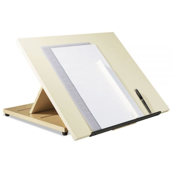Shain Portable Drafting Table, 24w x 20d x 3h, Almond