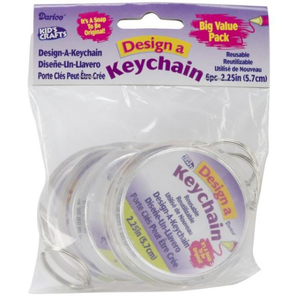 """Design-A-Keychain 2.75"""" 6/Pkg"""