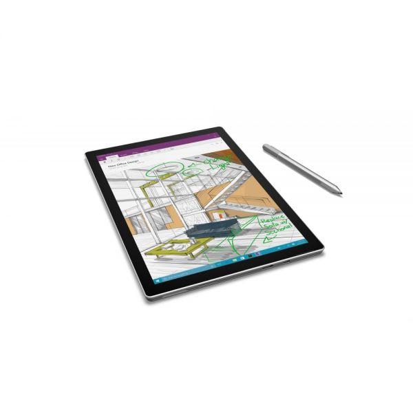 """Microsoft Surface Pro 4 Tablet - 12.3"""" - PixelSense - Wireless LAN - Intel Core i7 (6th Gen) i7-6600U Dual-core (2 Core) 2.60 GHz - Silver"""