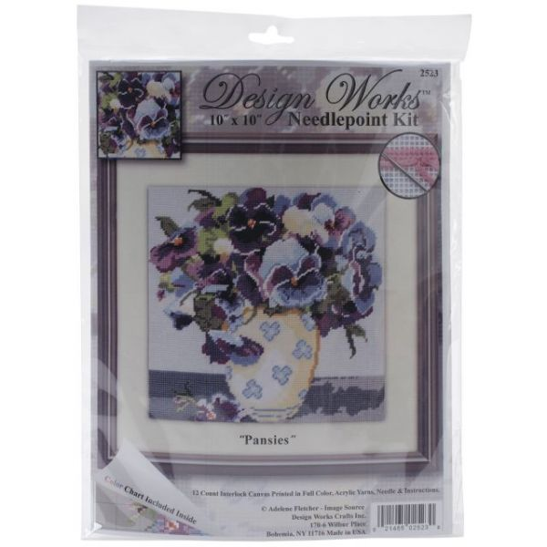 Pansies Needlepoint Kit