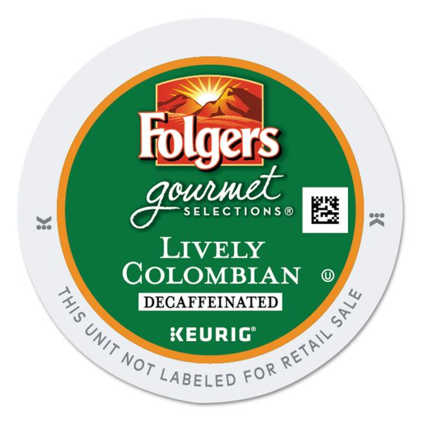 Folgers Gourmet Selections Lively Colombian Coffee K-Cups - Decaf