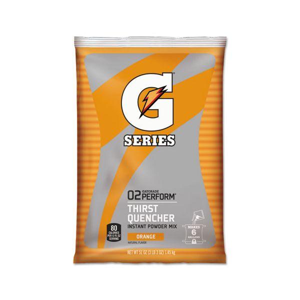 Gatorade Original Powdered Drink Mix, Orange, 51oz Packets, 14/Carton