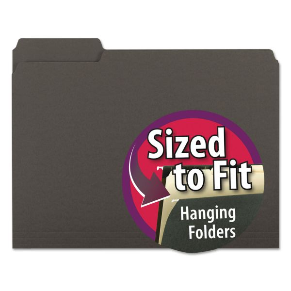 Smead Black Colored File Folders