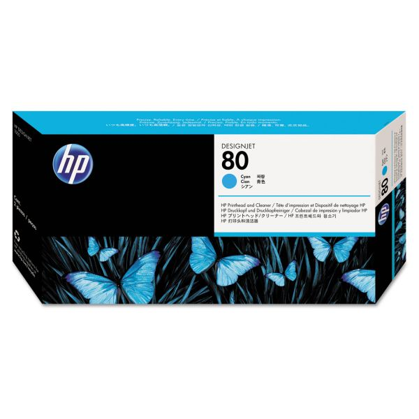 HP 80, (C4821A) Cyan Printhead & Cleaner