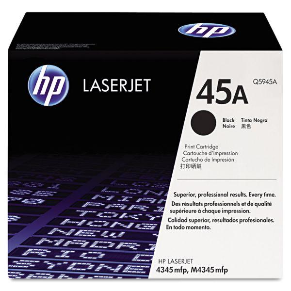 HP 45A, (Q5945A) Black Original LaserJet Toner Cartridge