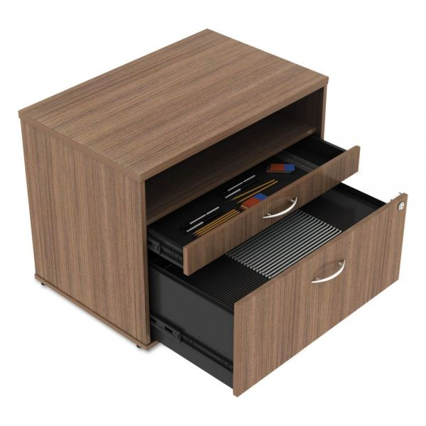Alera Alera Open Office Series Low File Cabinet Credenza, 29 1/2x19 1/8x22 7/8,Walnut