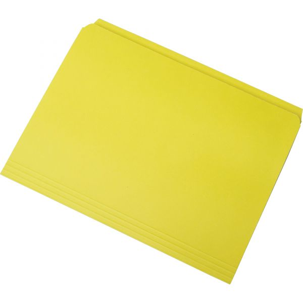 SKILCRAFT Yellow Colored File Folders