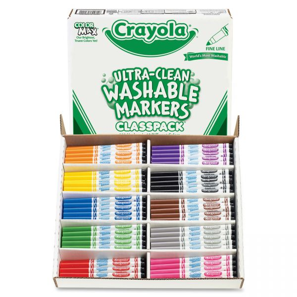 Crayola Ultra-Clean Washable Markers Classpack