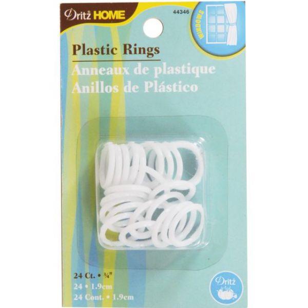 """Plastic Rings 3/4"""" 24/Pkg"""