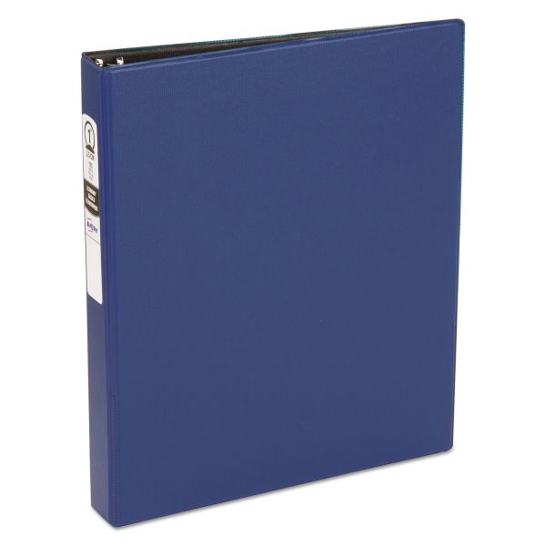 "Avery Economy Non-View Binder with Round Rings, 11 x 8 1/2, 1"" Capacity, Blue"