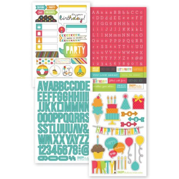 "Sn@p! Stickers 4""X6"" Sheets 4/Pkg"