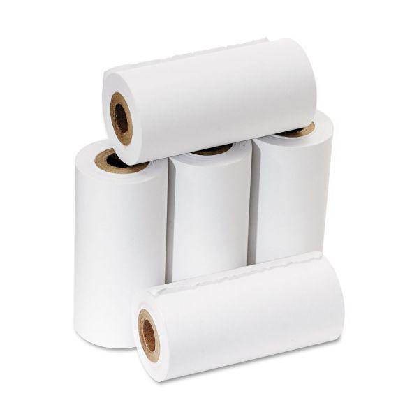 "PM Company One Ply Adding Machine/Calculator Rolls, 2 1/4"" x 17 ft, White, 5/Pack"