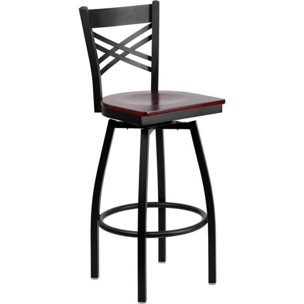 Flash Furniture HERCULES Series ''X'' Back Swivel Barstool