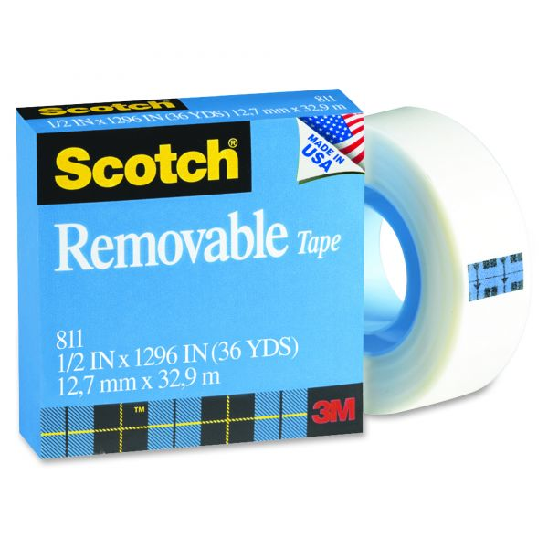 "Scotch Removable 1/2"" Invisible Tape Refill"