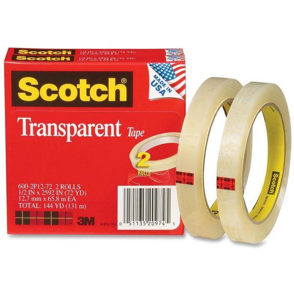 "Scotch 1/2"" Transparent Tape Refills"