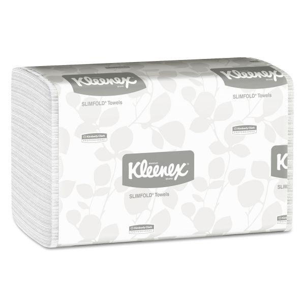 Kleenex Slimfold Paper Towels, 7 1/2 x 11 3/5, White, 90/Pack, 24 Packs/Carton
