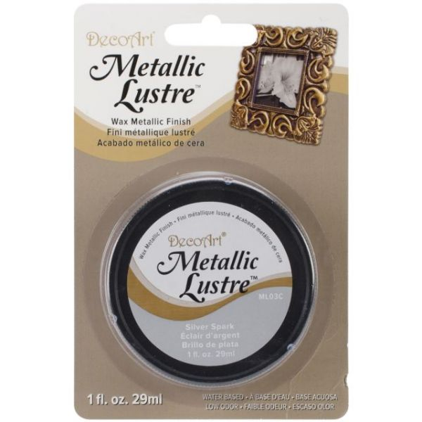 Deco Art Silver Spark Metallic Lustre Wax Finish