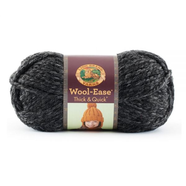 Lion Brand Wool-Ease Thick & Quick Yarn - Charcoal