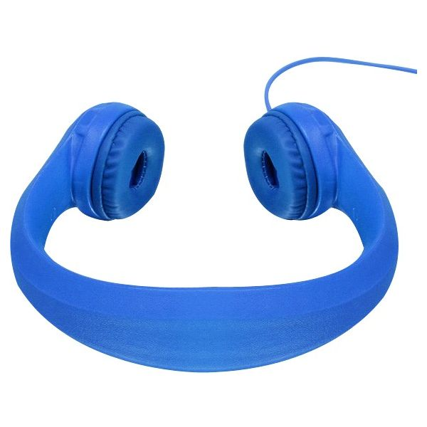 Aluratek Volume Limiting Wired Foam Headphones For Children (Blue)