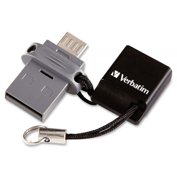 Verbatim 64GB Store 'n' Go Dual USB Flash Drive for OTG Devices