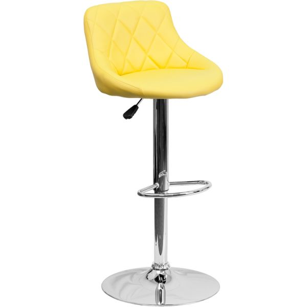 Flash Furniture Contemporary Vinyl Bucket Seat Barstool