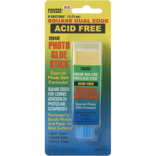 Pioneer Square Dual Edge Photo Glue Stick