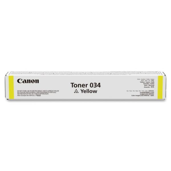 Canon Toner 034 Yellow Toner Cartridge (CRTDG034Y)