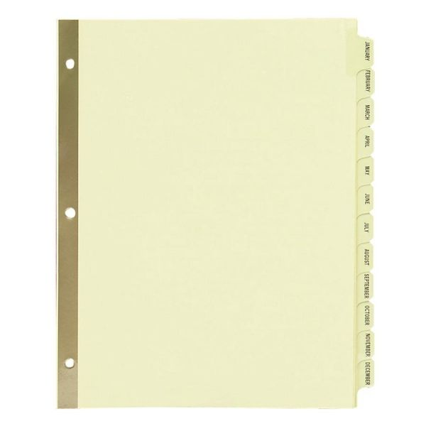 Avery Laminated Monthly Tab Index Dividers