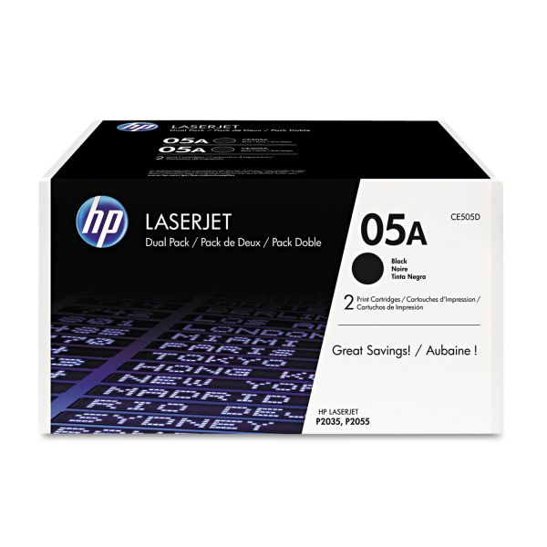 HP 05A Black Toner Cartridges (CE505D)