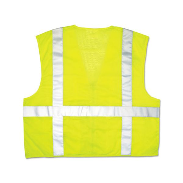 River City Luminator Safety Vest, Lime Green w/Stripe, Medium