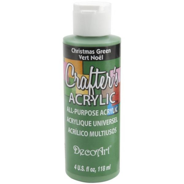 Deco Art Crafter's Acrylic Christmas Green Acrylic Paint