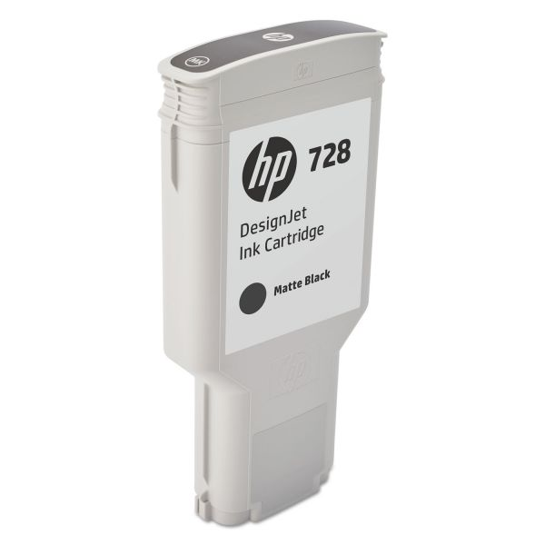 HP 728 Matte Black Ink Cartridge (F9J68A)