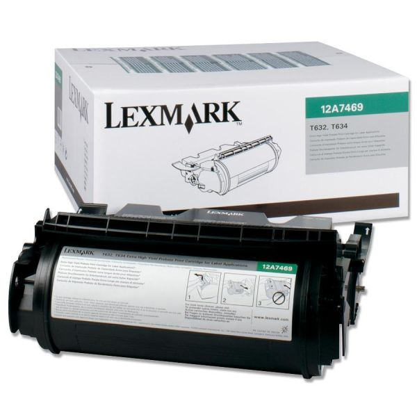 Lexmark 12A7469 Black Extra High Yield Return Program Toner Cartridge
