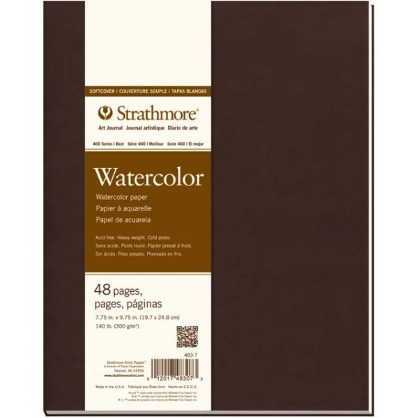 "Strathmore Softcover Watercolor Journal 7.75""X9.75"""