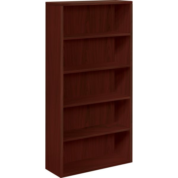 HON 10500 Series 5-Shelf Laminate Bookcase