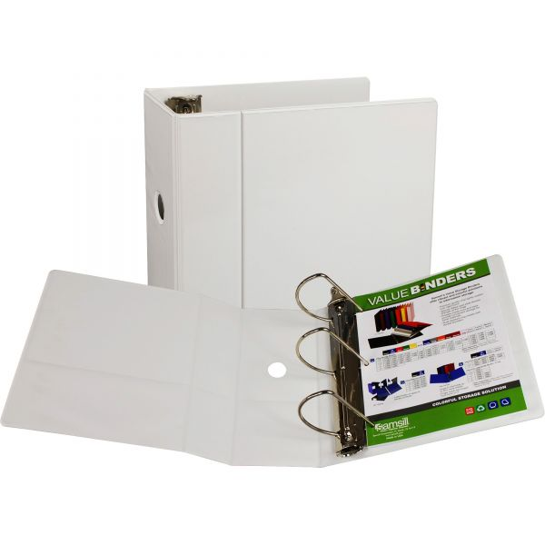 "Samsill Insertable 5"" 3-Ring View Binder"