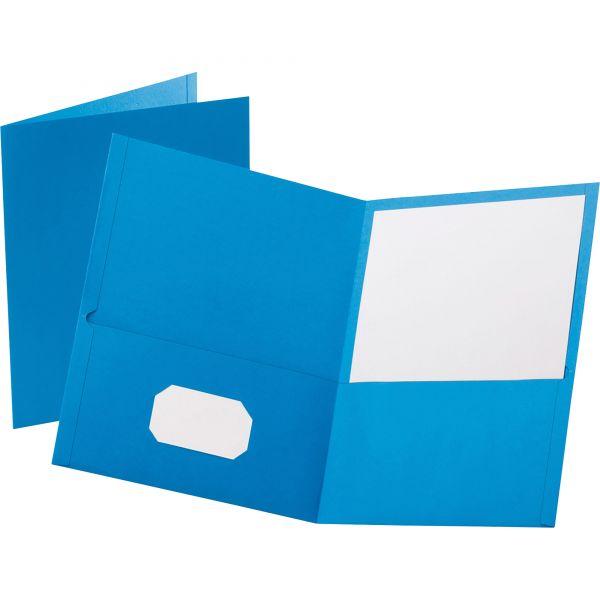 Esselte Light Blue Two Pocket Folders