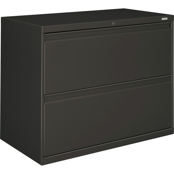 HON 800 Series Two-Drawer Lateral File, Letter/Legal/A4, 36w x 19-1/4d x 28-3/8h, Charcoal
