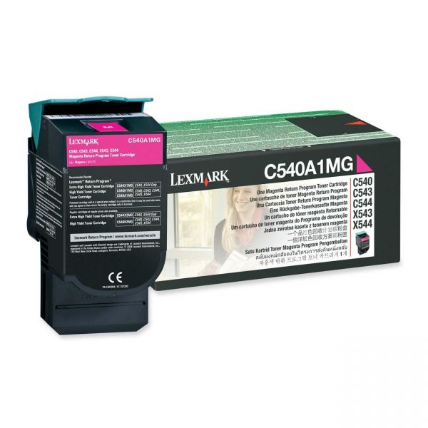 Lexmark C540A1MG Magenta Return Program Toner Cartridge