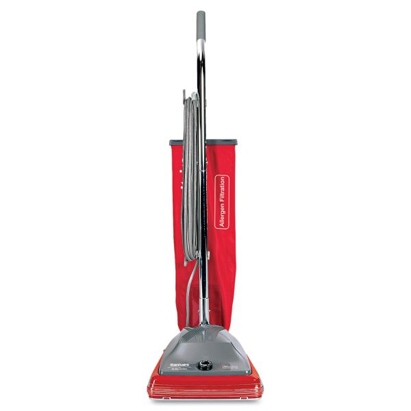 Sanitaire Commercial Standard Upright Vacuum, 19.8lb, Red/Gray
