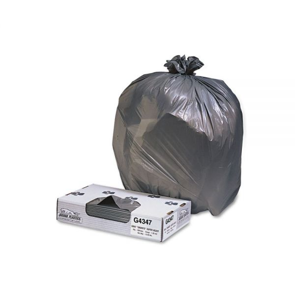 Jaguar Plastics Industrial Strength 56 Gallon Trash Bags