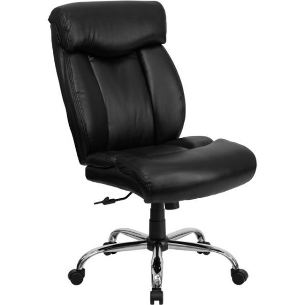 Flash Furniture Big & Tall Black Leather Office Chair