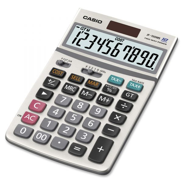 Casio JF-100MS Desktop Calculator with 10-Digit Display, 4-1/4w x 6-7/8d
