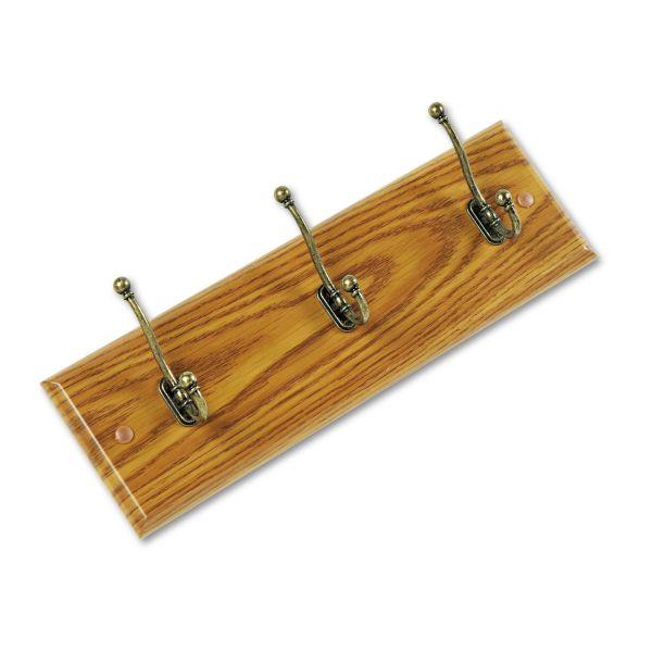 Safco 3-Hook Wood Wall Racks
