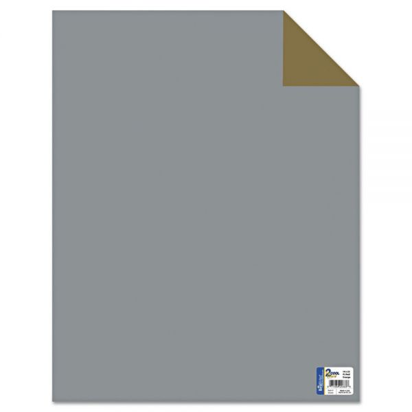 Royal Brites Two Cool Poster Board, 22 x 28, Gold/Silver, 25 per Pack