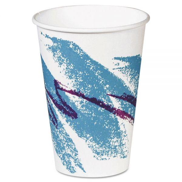 Dart Hot Paper Vending Cups, 8 oz., Jazz Design, 100/Bag, 20 Bags/Carton