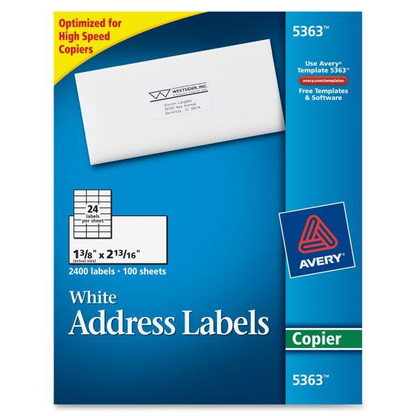 Avery Copier Address Labels