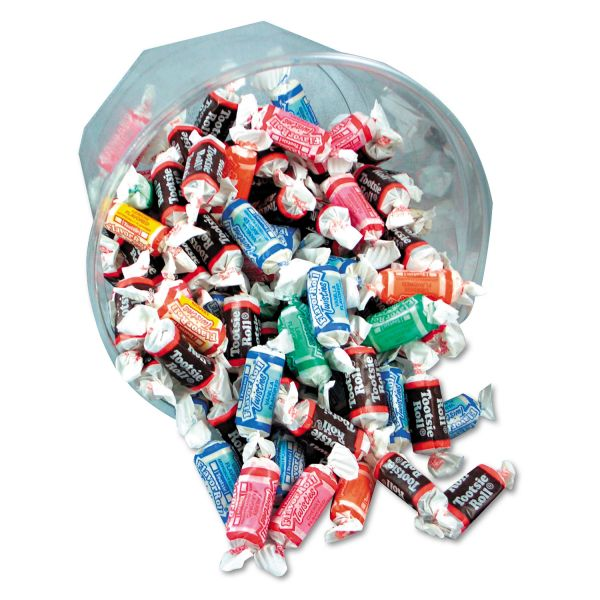 Office Snax Tootsie Roll Assortment, 28oz Bowl