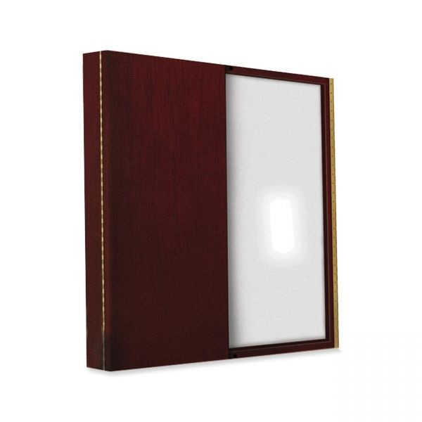 Tiffany Industries Dry Erase Magnetic Presentation Board, Cloth/Steel, 48 x 48, Mahogany Frame